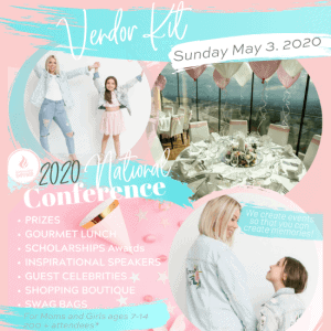 2020 Mother Daughter Empower National Conference Vendors Kit Poster